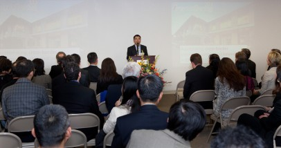 InnoSpring President Eugene Zhang Speaking at InnoSpring's Grand Opening